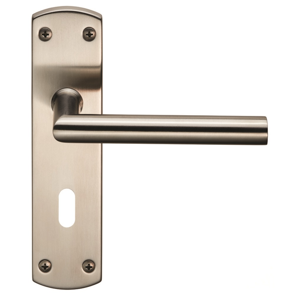 Steelworx Residential Mitred Lever On Backplate Lever On