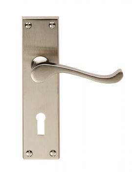 Victorian Scroll Lock Satin Nickel