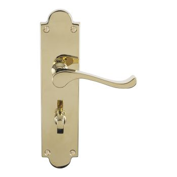 Victorian Scroll Lever On Shaped Backplate - Bathroom 57Mm C/C (Contract Range)