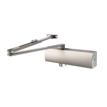 Full Cover Overhead Door Closer Variable Power 2-5 Silver