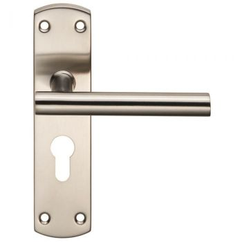 Steelworx Residential T Bar Lever on Euro Lock Backplate