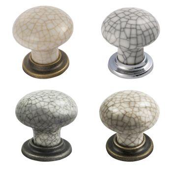 Porcelain Mushroom Pattern Knob