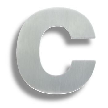 Stainless Steel Letters. (Letter C)