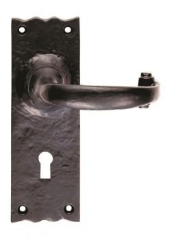 Traditional Lever on Lock Backplate