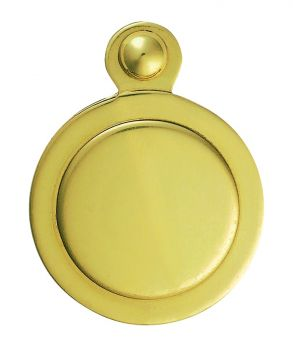Covered Escutcheon Polished Brass