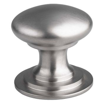Victorian Cupboard Knob 42mm Satin Nickel