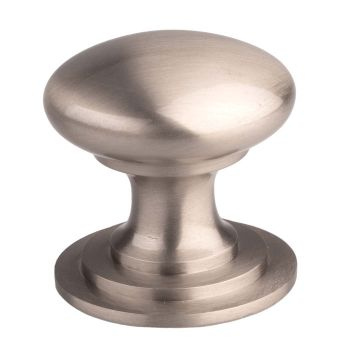 Victorian Cupboard Knob 42mm Stainless Steel Effect