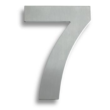 "Stainless Steel 7"" Numerals (0-9) (Number 7)"