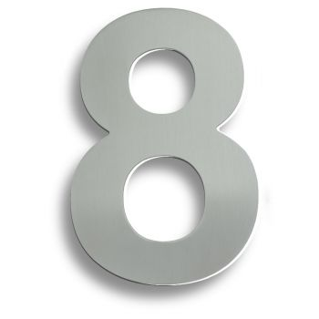 "Stainless Steel 7"" Numerals (0-9) (Number 8)"