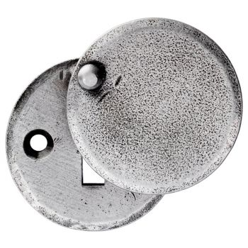 Hand Forged Pewter Closed Escutcheon