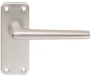 Aluminium Lever on Latch Backplate