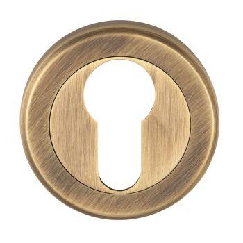 Serozzetta Euro Profile Escutcheon Antique Brass