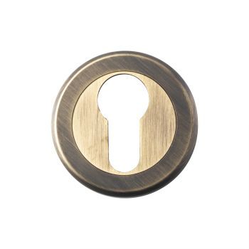 Serozzetta Euro Profile Escutcheon Antique Brass