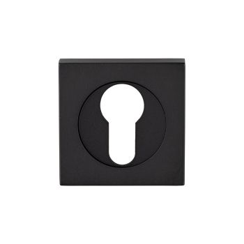 Serozzetta Square Euro Profile Escutcheon Matt Black
