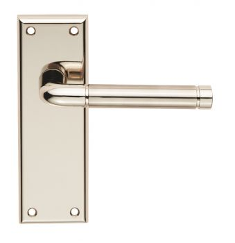 Serozzetta Quaranta Lever on Latch Backplate Polished/Satin Nickel