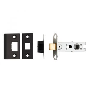 64Mm Ce B/T Tubular Mortice Latch Square Matt Black