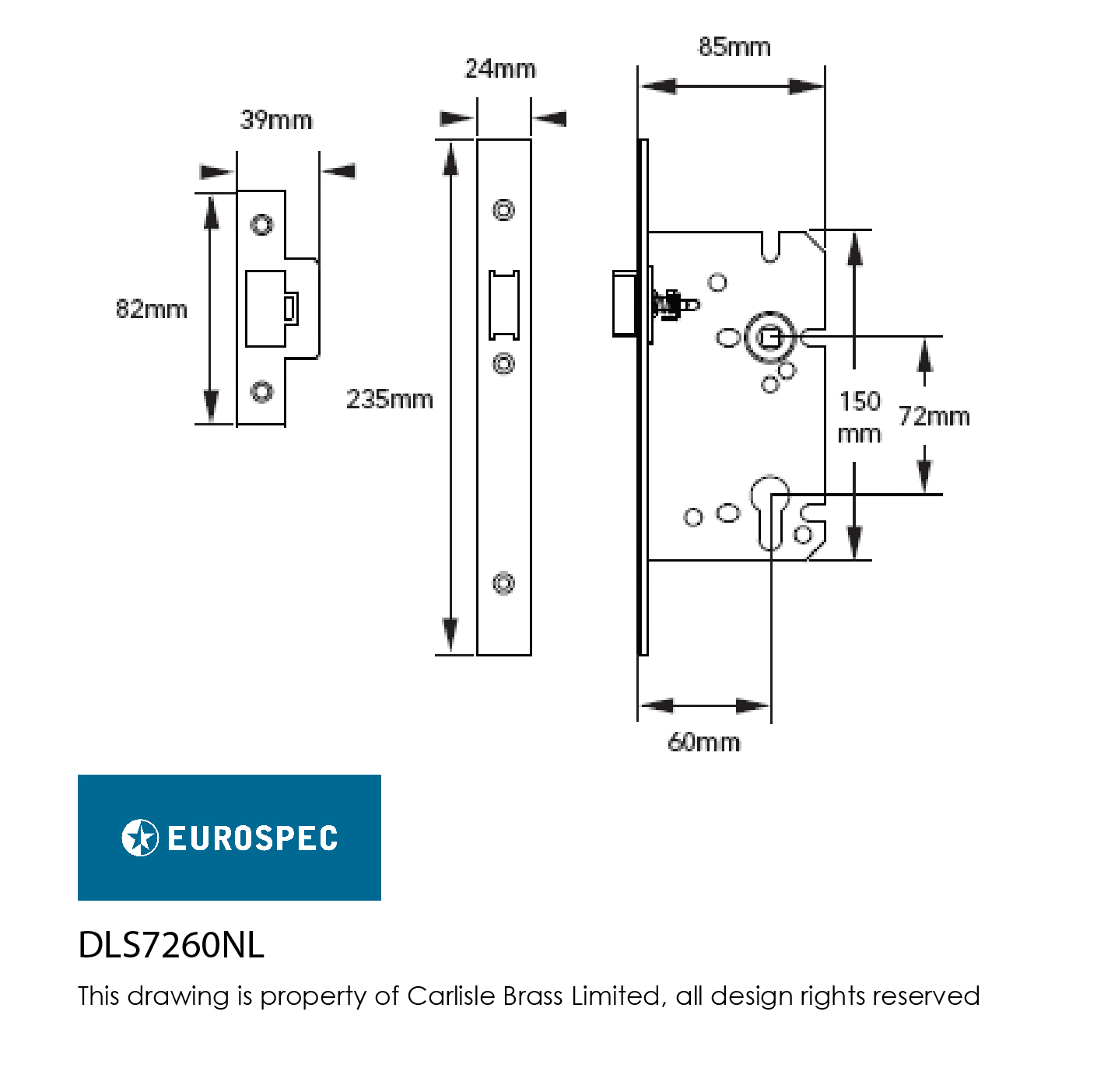 Easi T Din Euro Profile Nightlatch Locks And Latches Latch Circuit Diagram This Night Provides A Good Degree Of Security Carries 10 Year Mechanical Guarantee It Has Been Ce Certifire Tested
