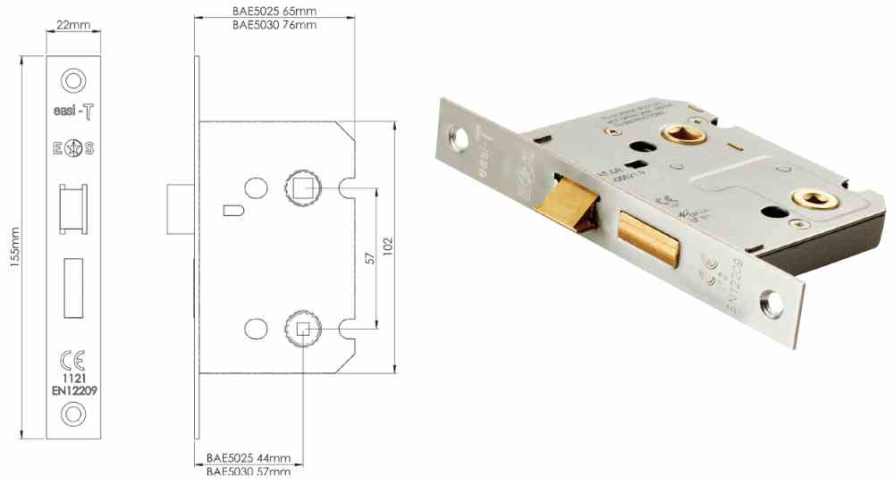 Easi - T Bathroom Lock