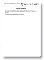 Copper Products Care Instructions
