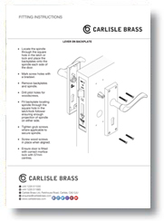 Fitting Instructions Lever on Backplate