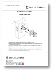 Fitting Instructions Concealed Fix Door Knob