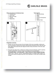 Fitting Eurospec Locks Instructions