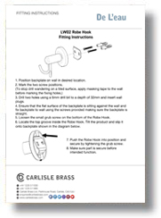 Fitting Robe Hook Instructions
