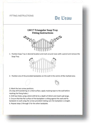 Fitting Triangular Soap Tray Instructions