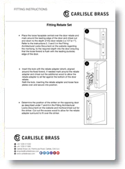 Fitting Rebate Set Instructions