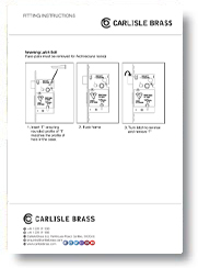 Reversal latch Bolt Instructions