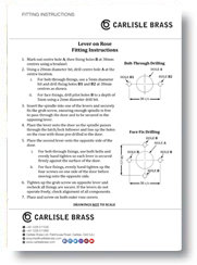Fitting Instructions Lever on Rose